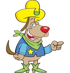 Cartoon Cowboy Dog vector image vector image