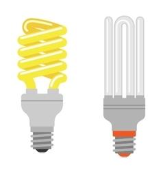 Cartoon lamps light bulb vector image