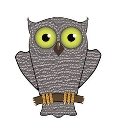 Cartoon owl isolated on white background vector