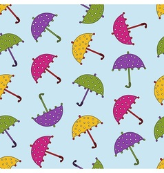 Cartoon umbrellas fall vector
