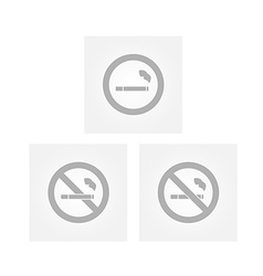 cigarette signs vector image vector image
