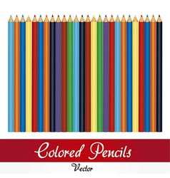 Colored pencil set isolated in white background vector image