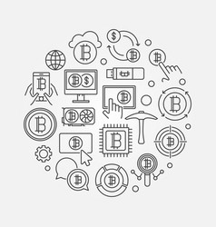 Crypto market round - symbol vector