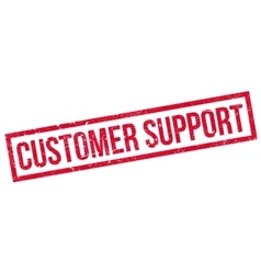 Customer Support rubber stamp vector image