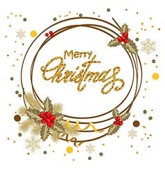 Decorative christmas card vector