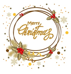 decorative christmas card vector image