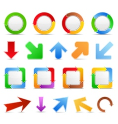 Design elements with arrows vector image