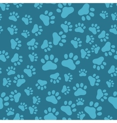 Dog paw print seamless anilams pattern vector