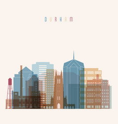 Durham state north carolina skyline vector