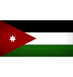 Flag of Jordan vector image