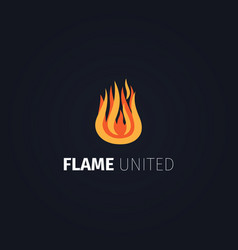 Flame united logo template vector