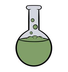 Flask with liquid icon cartoon vector