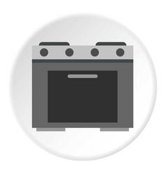 Gas stove icon circle vector