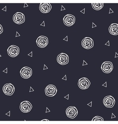 Geometric hand drawn polka dots and triangles vector image vector image