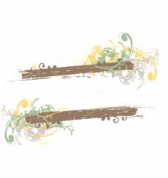 grunge floral frame background vector image vector image