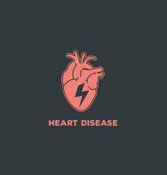 heart disease logo icon symbol vector image
