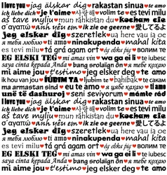 I love you in different languages vector image vector image