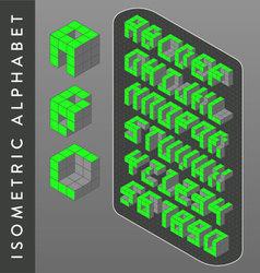Isometric alphabet vector