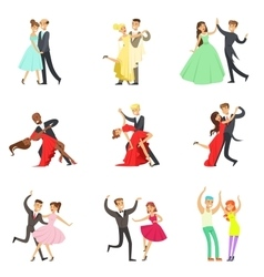 Professional Dancer Couple Dancing Tango Waltz vector image vector image