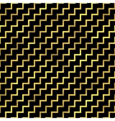 Seamless zigzag pattern Golden fashion vector image vector image