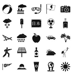 Street classes icons set simple style vector