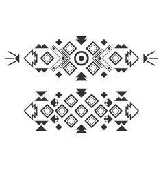 tribal elements ethnic collection aztec vector image