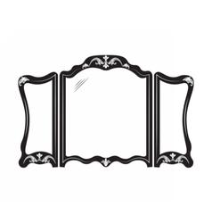Vintage mirror frame vector image