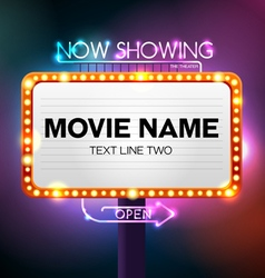 Theater sign vector