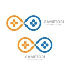 Gamepad logo joystick symbol or icon vector