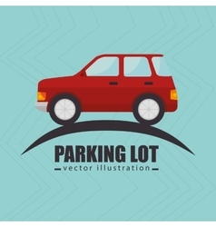 Parking lot symbol notice vector