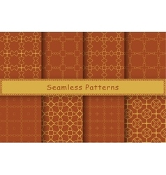 Set of 8 seamless patterns in ethnic style vector