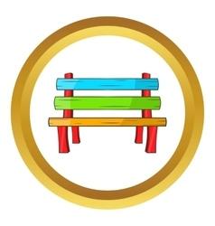 Bench icon vector image