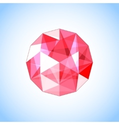 Realistic ruby gem jewel vector
