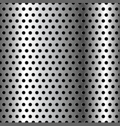 Seamless chrome grid metal background vector