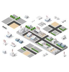 City urban factory vector