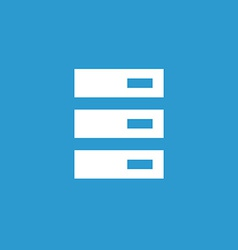 Server icon white on the blue background vector