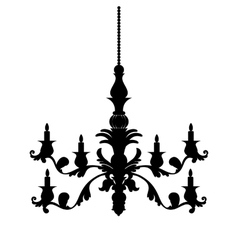 Chandelier silhouette isolated on white background vector