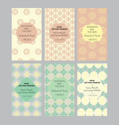 A collection of six designs cards vector