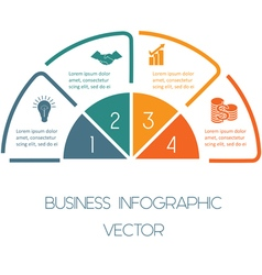 Line infographic four positions vector image