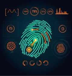 Fingerprint preview vector