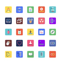 Science and technology colored icons 3 vector