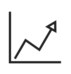 Rising line graph vector