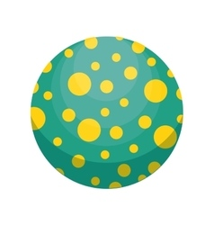 Ball toy kid isolated icon vector