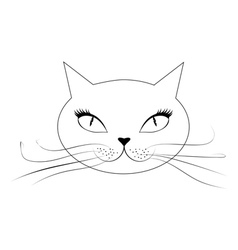 Cartoon cat face vector image vector image