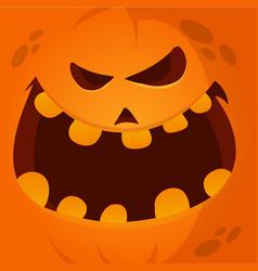 cartoon funny halloween pumpkin jack vector image vector image