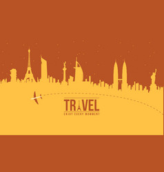 Collection stock of travel to the world vector