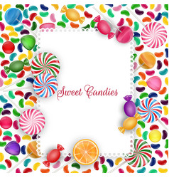 colorful candy background vector image