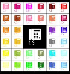 Communication or phone sign felt-pen 33 vector