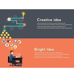Creative idea generator bright idea modern web vector image vector image
