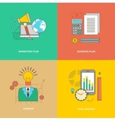 Data analysis business marketing plan startup vector
